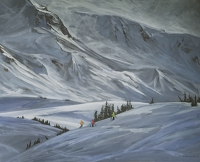 dwarfed by drifting landscape-whistler