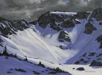 summer storm coming over whistler mountian SOLD