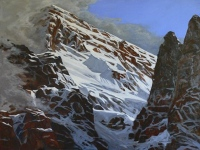 behind the shadowy peaks SOLD