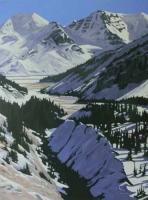 receding glacier-columbia icefields