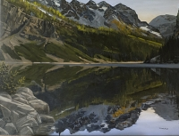 shoreline reflection lake louise SOLD