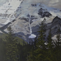 clouds rolling over mt robson SOLD