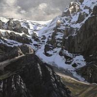 macdonald glacier above lake louise  SOLD