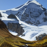 mt. unwin standing over maligne lake SOLD