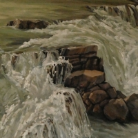 rearguard falls - wall of water