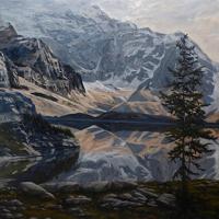 reflection on opabin lake