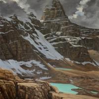 rocky steps below talus mountain