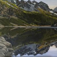 shoreline reflection lake louise SOLD