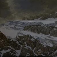 storm over crowfoot glacier