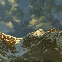 sunrise over the columbia icefields SOLD