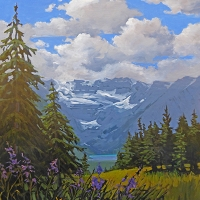 wildflowers overlooking lake louise SOLD