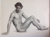 drawing male sitting