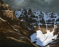 sunlit glacier above lake ohara