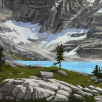 approaching lake macarthur SOLD