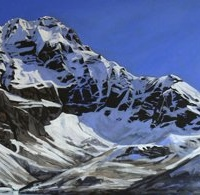 first glimpse of opabin lake SOLD