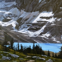 flash of light on glacier SOLD