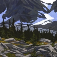 light coming through mountain pass SOLD