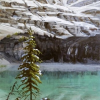 lone tree catching the light SOLD