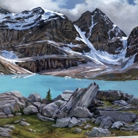 looking down on lake oesa SOLD