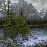 looming over linda lake SOLD