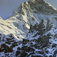 mount biddle seen from opabin plateau SOLD