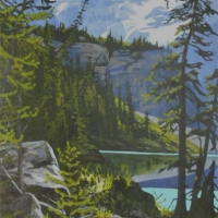 path along water's edge - lake o'hara SOLD