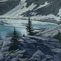 rocky shore on lake oesa