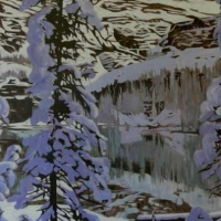 september snow lake o'hara