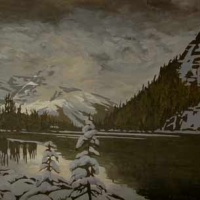 storm approaching lake o'hara SOLD