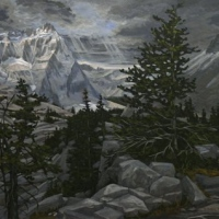 storming breaking up over  the next mountian