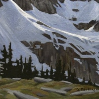 streak of light across the glacier SOLD
