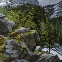 tricky path on lake ohara shoreline SOLD