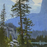 view around the corner - lake o'hara SOLD