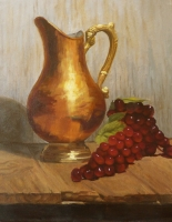 copper and grapes