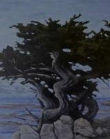 tree sculpture on shoreline